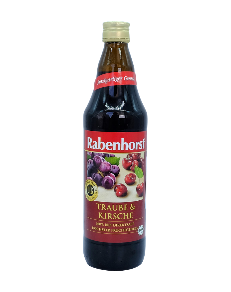 Rabenhorst Organic Red Grape and Cherry Juice-100% Pure Juice (750ml)