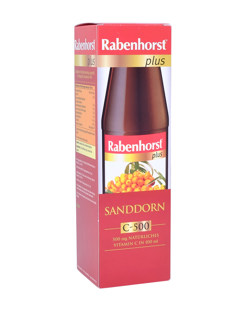 Rabenhorst Organic Sea-Buckthorn Juice - 100% Pure Juice (450ml)