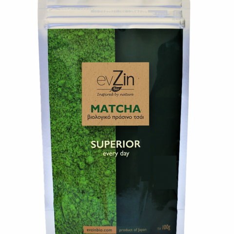 Evzin Bio Matcha Tea: Superior Every Day (30g/100g/250g)