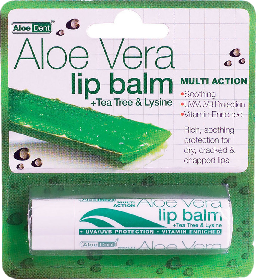 Optima AloeDent Aloe Vera Lip Balm Stick (4g)