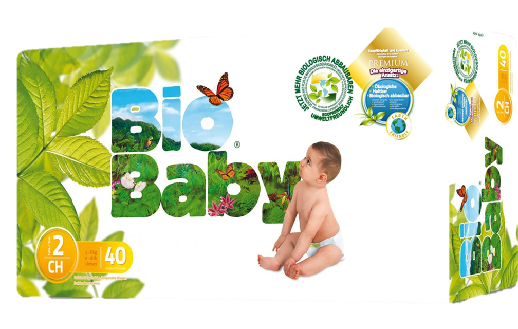 Bio Baby Nappies Size 2 (5-8kg) 40 pcs