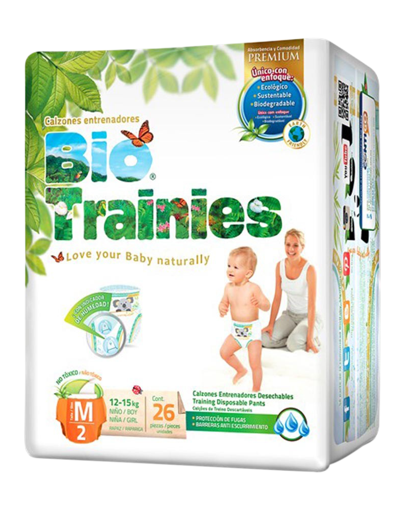 Bio Baby Bio Trainies Medium Size 2 (12-15KG) Χ26 Pcs