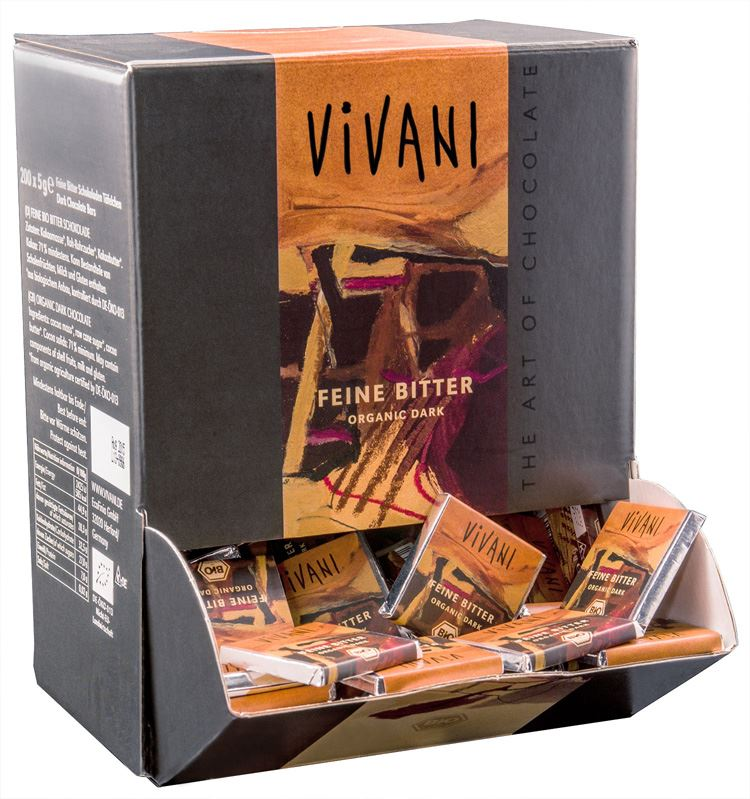 SMALL VIVANI CHOCOLATE 71% CACAO 5g