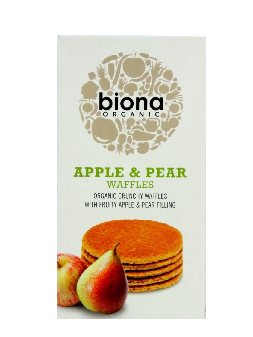 Biona Organic Apple & Pear Waffles 175g