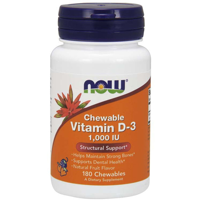 Vitamin D-3,  180 Chewables