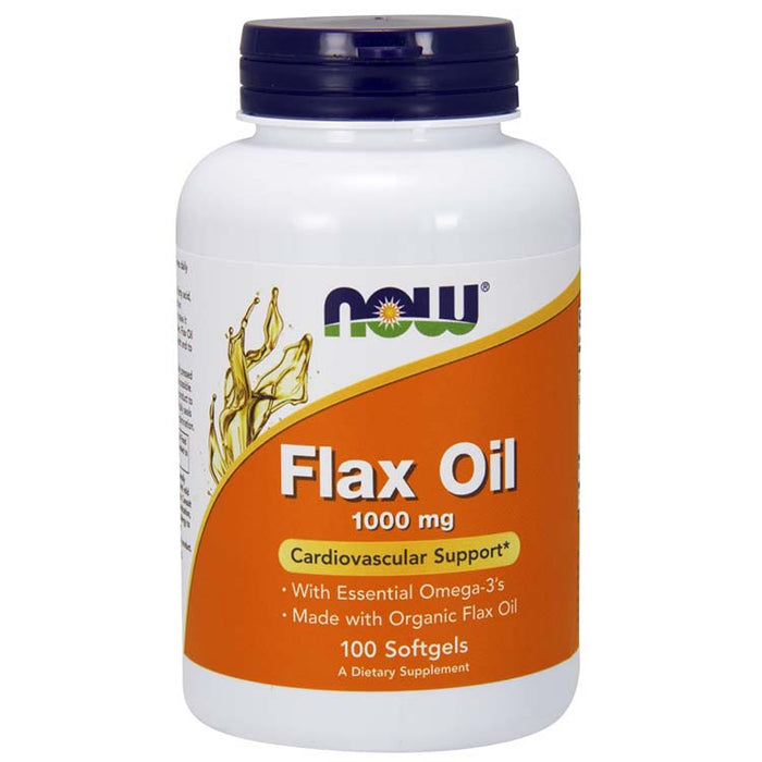 Flax Oil - 1000 mg, 100 Softgels