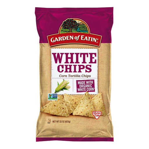 Natural White Corn Tortilla Chips, 22 oz.