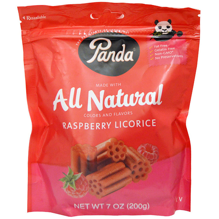 Panda Raspberry Licorice - All Natural, 7 oz.