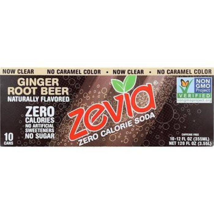 Zevia Ginger Root Beer, 10 pk
