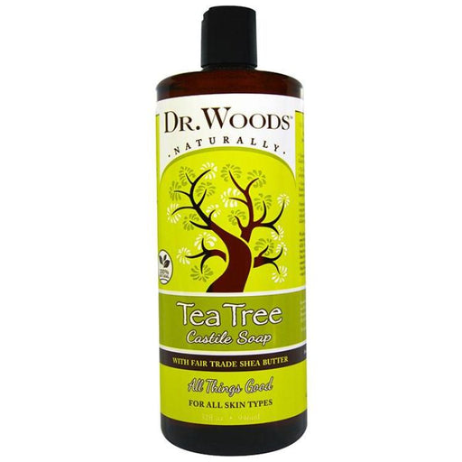 Dr. Woods Tea Tree Castile Soap w/ Shea Butter, 32oz
