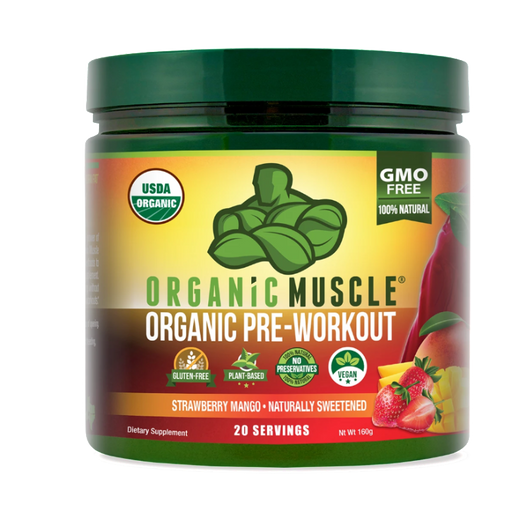 Organic Pre-Workout, Strawberry Mango