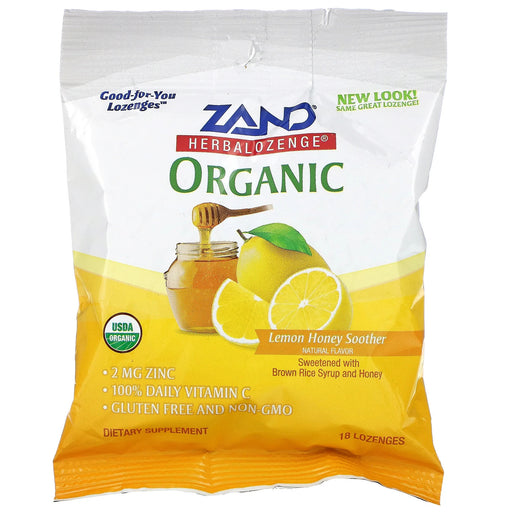 Organic Honey Lemon Cough Drops, 18ct
