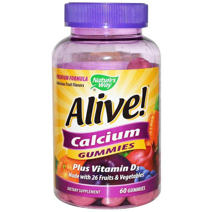Alive! Calcium Gummies, 60 Count