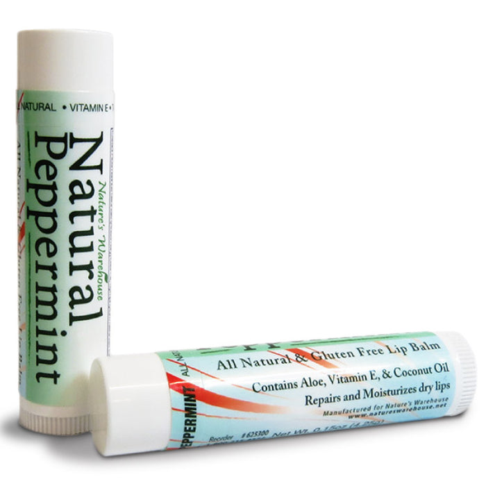 Natural Peppermint Lip Balm, .15 oz.