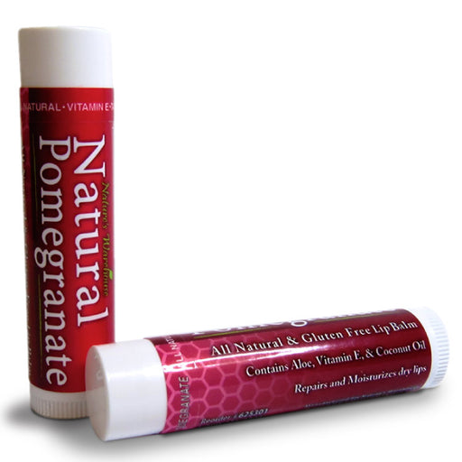 Natural Pomegranate Lip Balm, .15 oz.