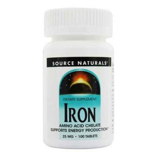 Iron - 25 mg, 100 Tablets