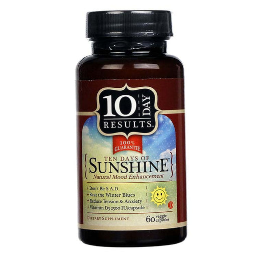 Ten Days Of Sunshine - Natural Mood Enhancer, 60 Capsules
