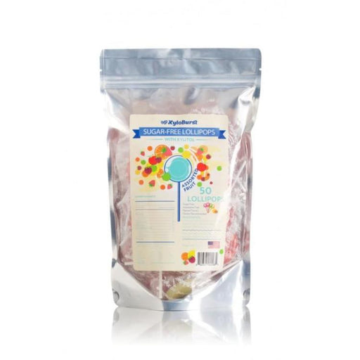 Sugar-Free Xylitol Lollipops - Assorted Flavors, 50 ct
