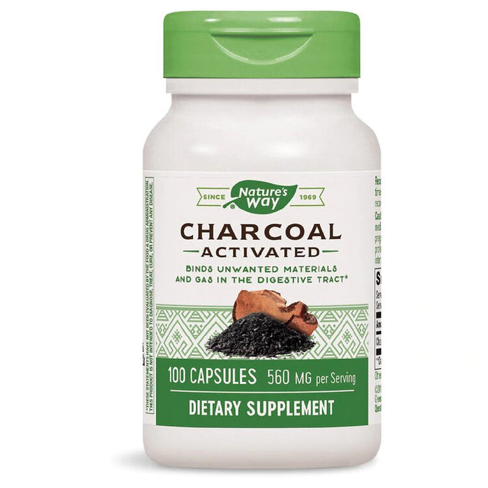 Charcoal Activated, 100 Capsules