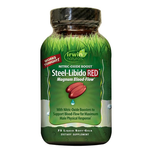 Steel Libido RED for Men, 75 Soft-gels
