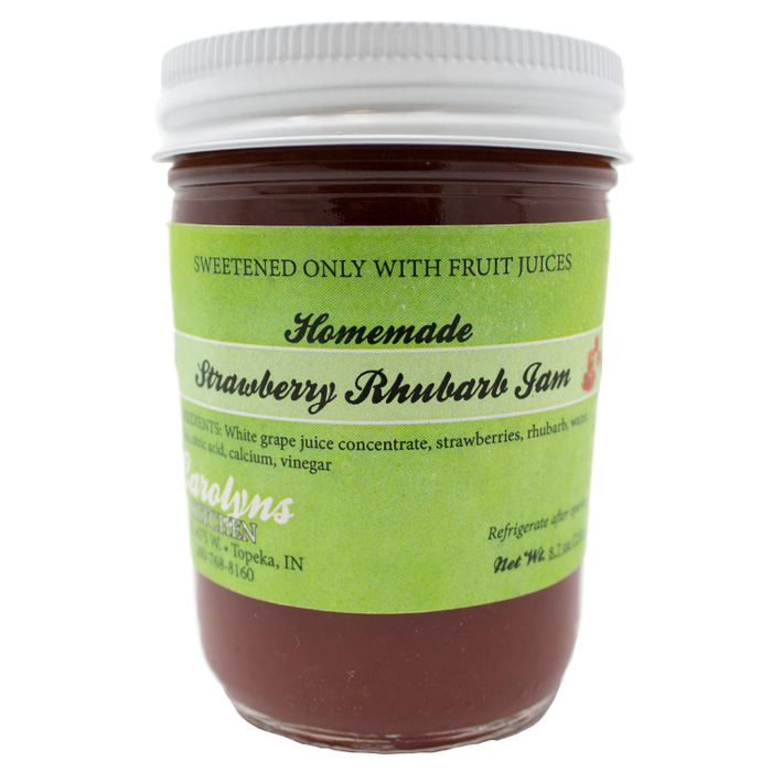 Strawberry Rhubarb jam, 8 oz