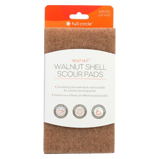 Walnut Scouring Pads, 3 ct