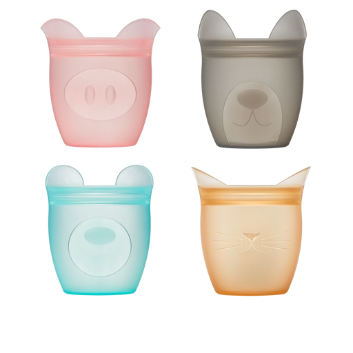 Silicone Baby Snack Containers, 4 Pk