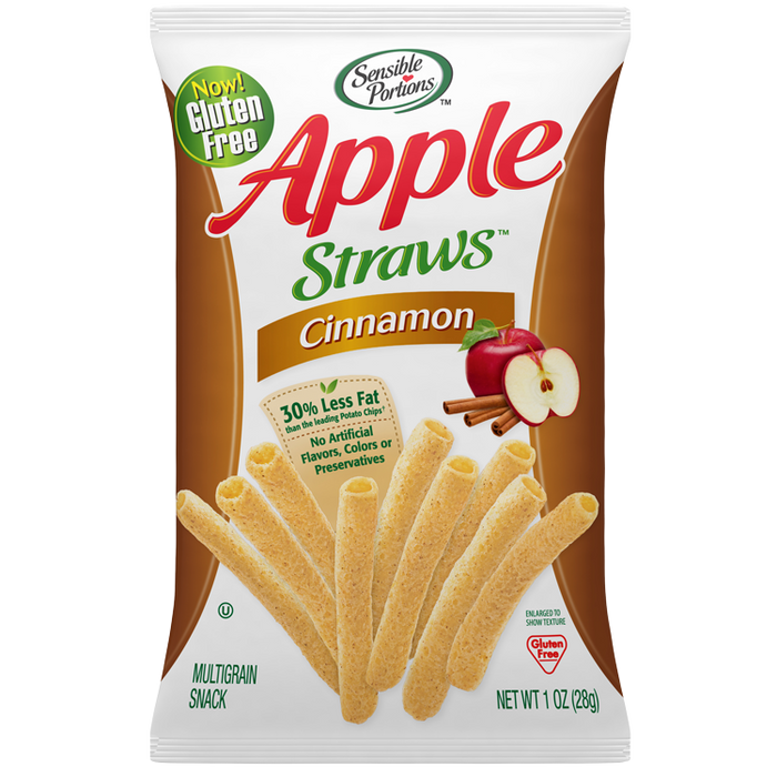 Cinnamon Apple Straws, 5 oz