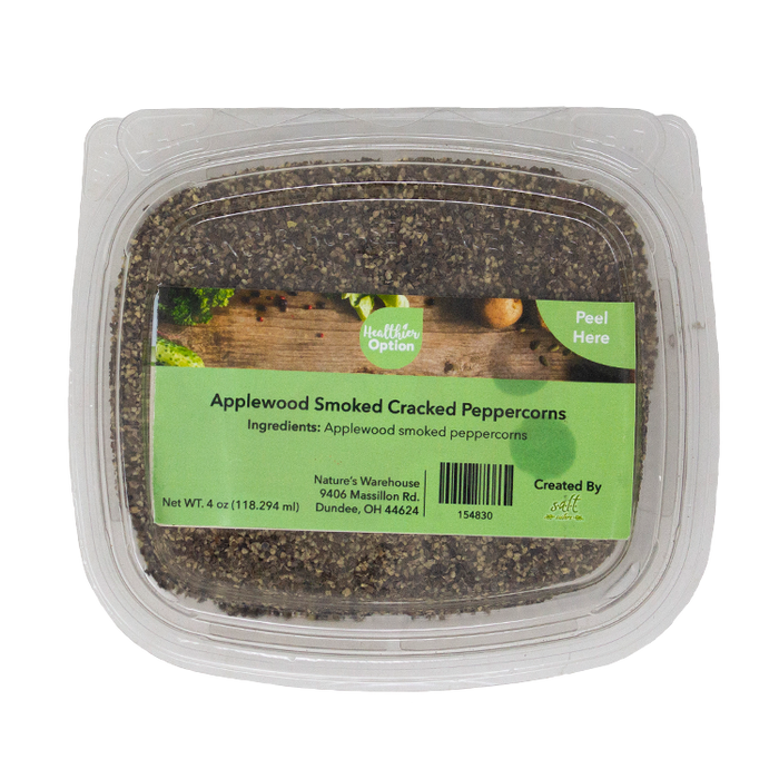 Applewood Smoked Cracked Peppercorns, 4 oz