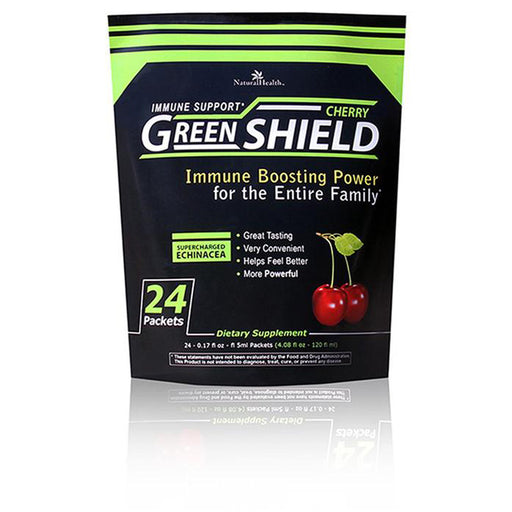 Green Shield - Cherry, 24 single serve packets