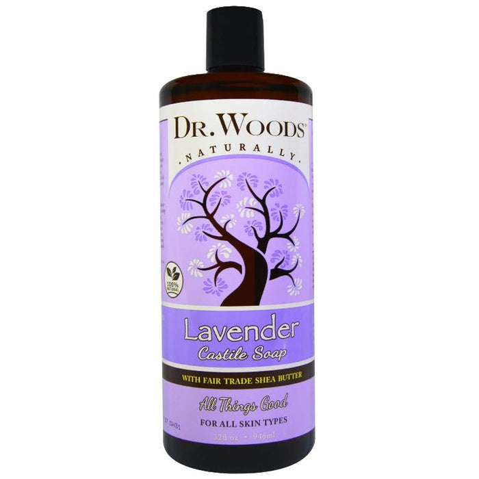 Dr. Woods Lavender Castile Soap with Organic Shea Butter, 32oz