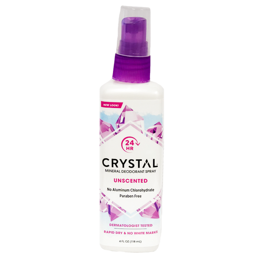 Crystal Body Deodorant Spray - Unscented, 4oz