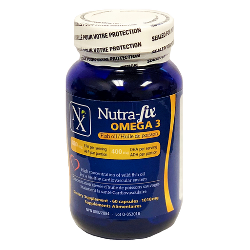 Nutra-fix Omega 3 Fish Oil - 1010 mg, 60 capsules