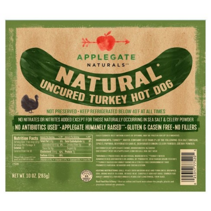 Turkey Hot Dogs, 10 oz