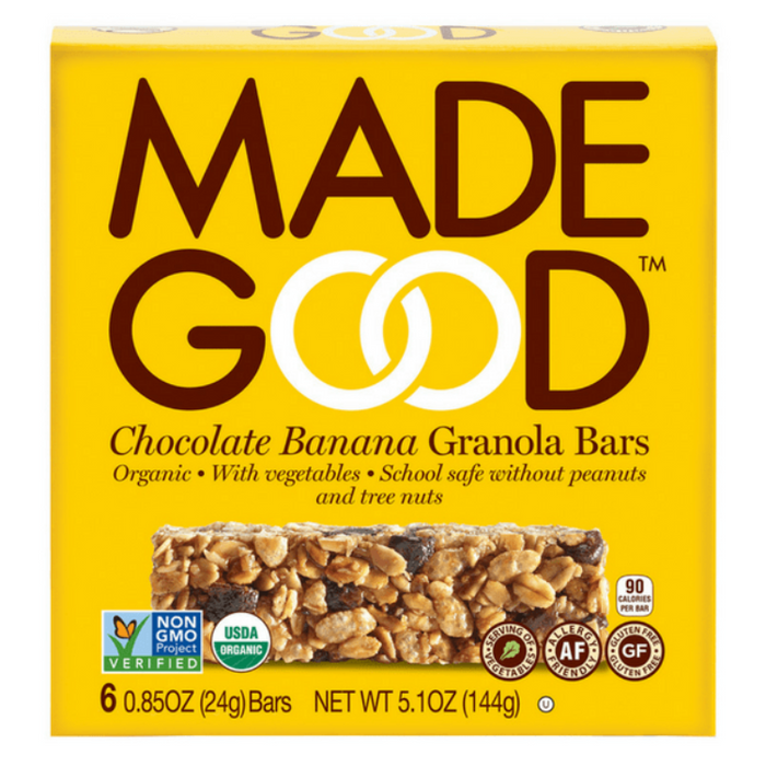 Chocolate Banana Granola Bars, 6 pk.