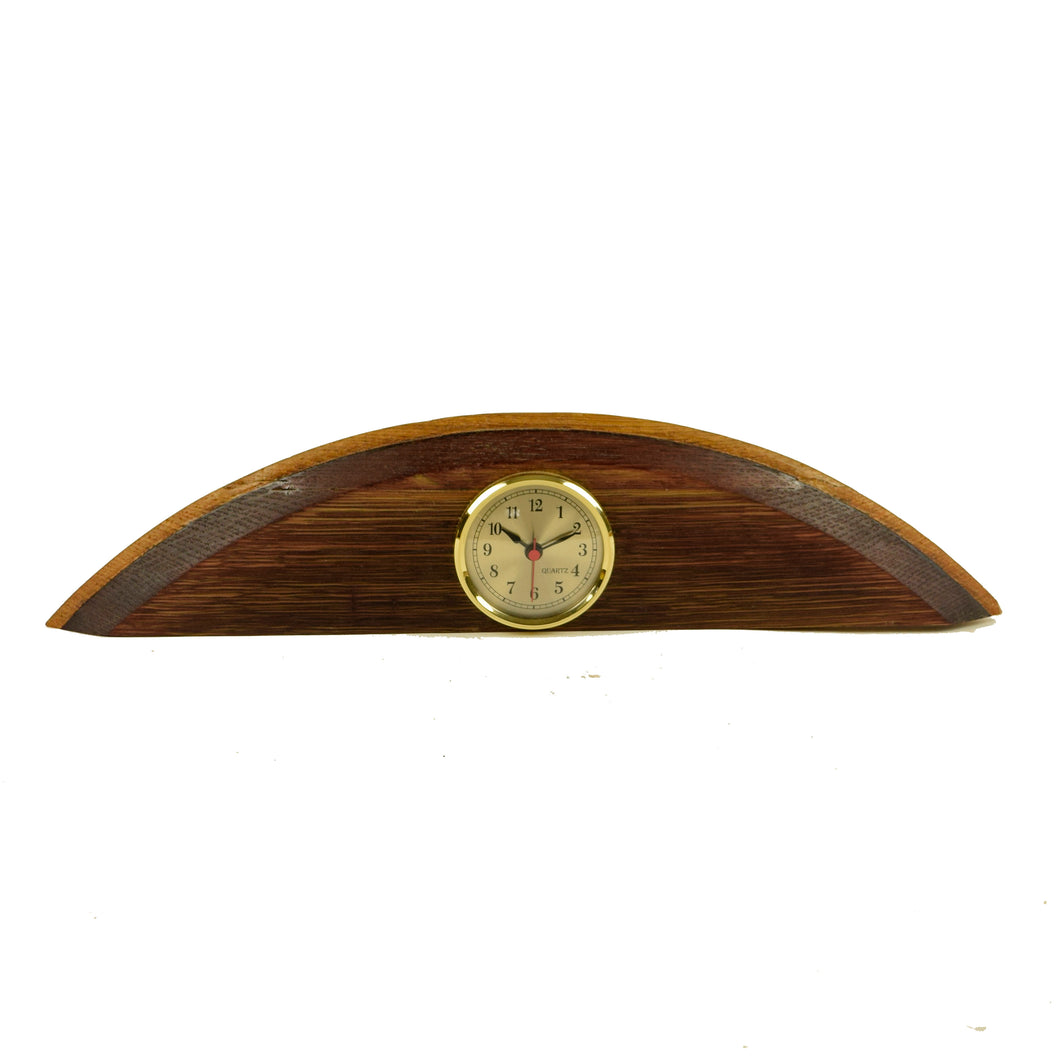 Wine Barrel Clock Horizontal