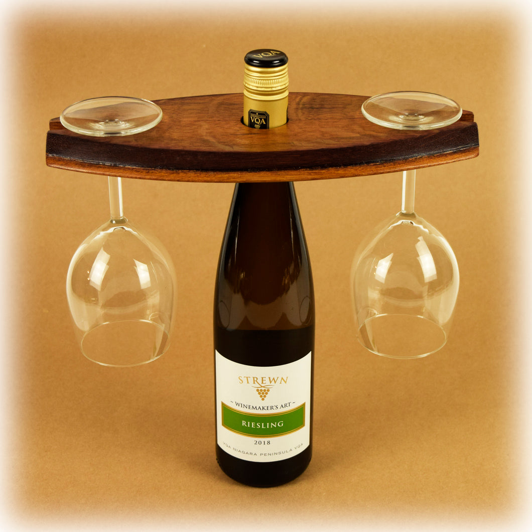 Wine Bottle Glass Balance from Wine Barrel