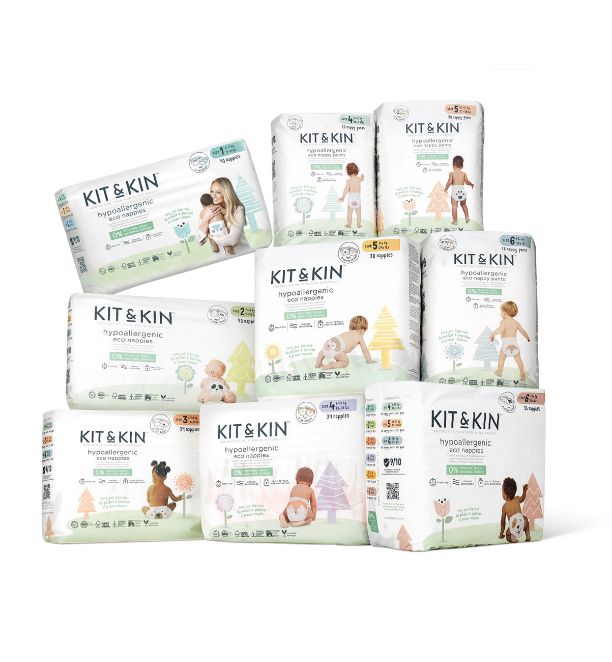 Kit & Kin premium eco nappies