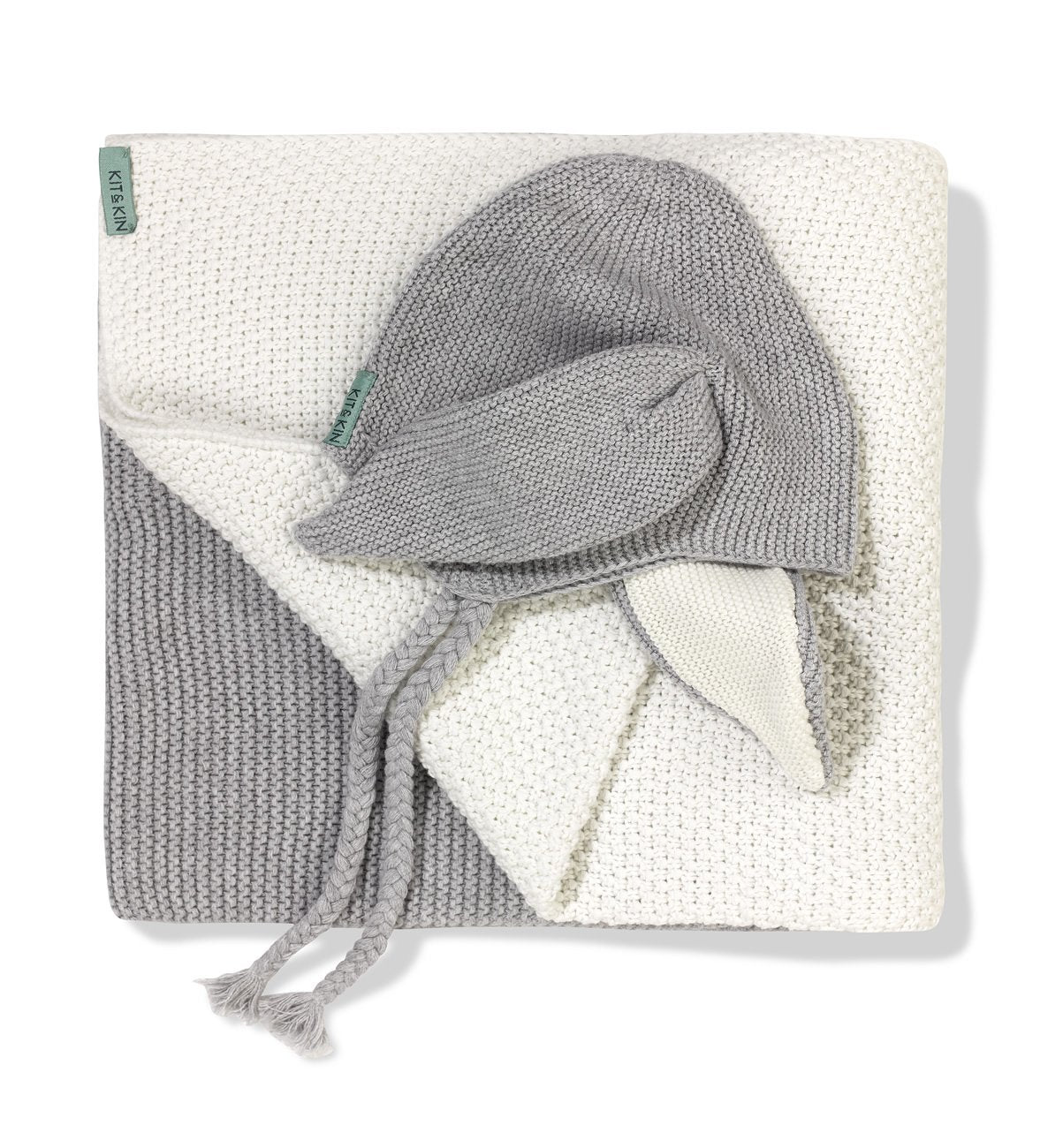 Sustainable grey hat and blanket bundle