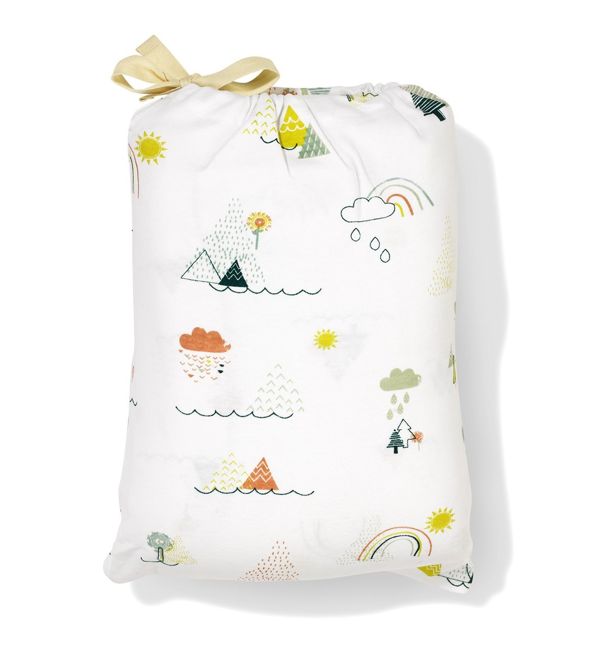 White sleeping bag holdall
