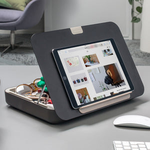Black Bento toolbox with tablet