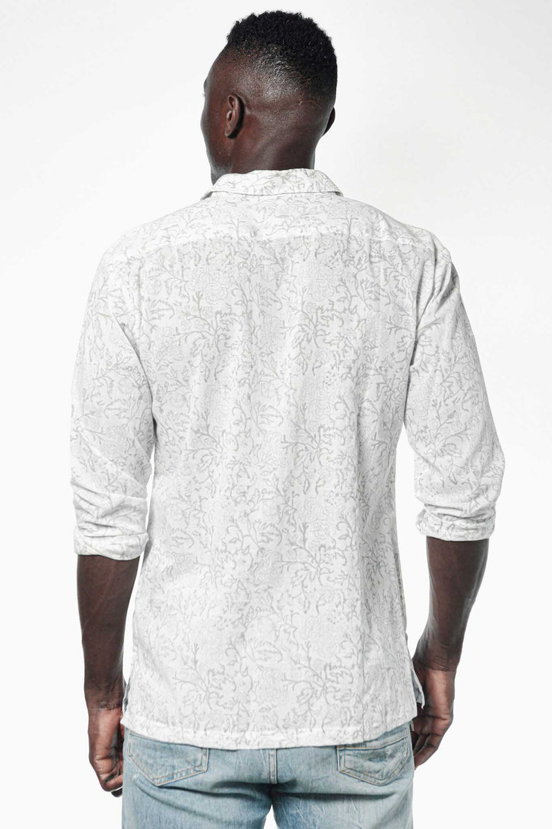 Camisa BLOCK Claveles Grey - Cloud9 Ibiza