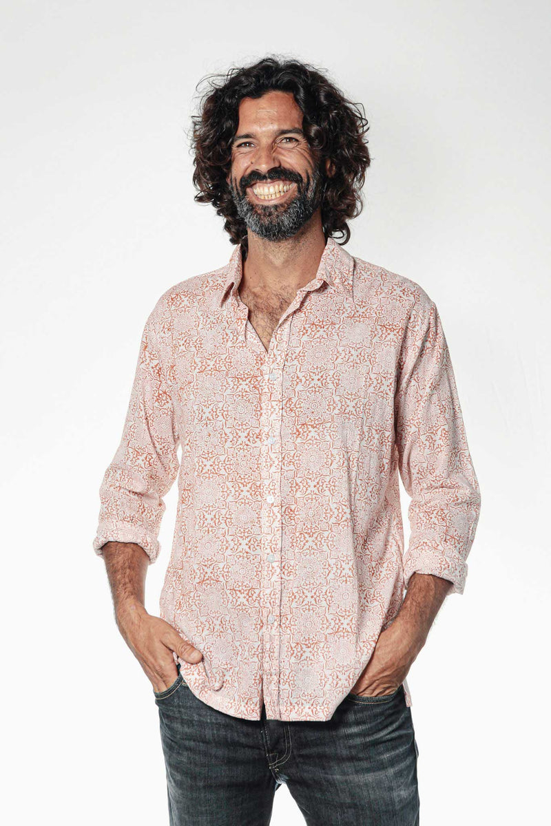 Camisa BLOCK Jaipur Red - Cloud9 Ibiza