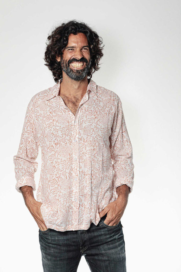 Camisa BLOCK Claveles Red - Cloud9 Ibiza