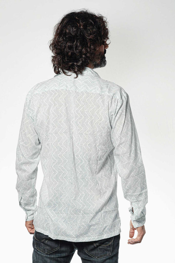 Camisa BLOCK Zig Zag Blue - Cloud9 Ibiza