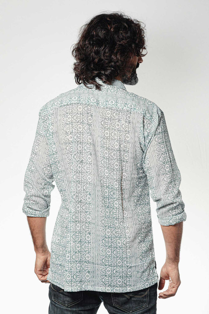 Camisa BLOCK Pushkar Blue - Cloud9 Ibiza