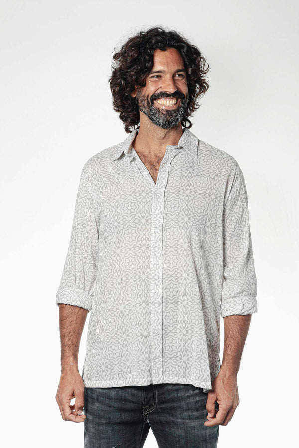 Camisa BLOCK Granada Grey - Cloud9 Ibiza