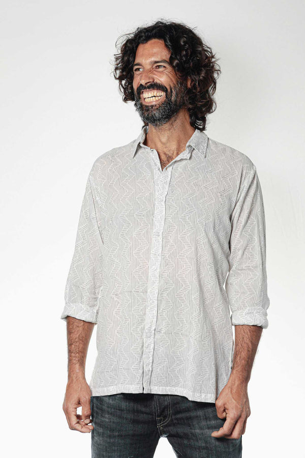 Camisa BLOCK Zig Zag Grey - Cloud9 Ibiza