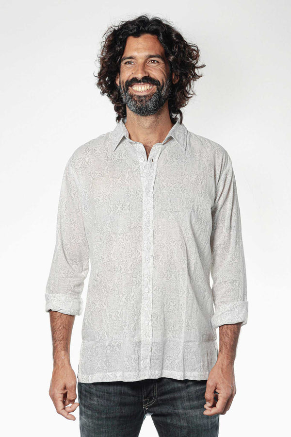 Camisa BLOCK Jaipur Grey - Cloud9 Ibiza