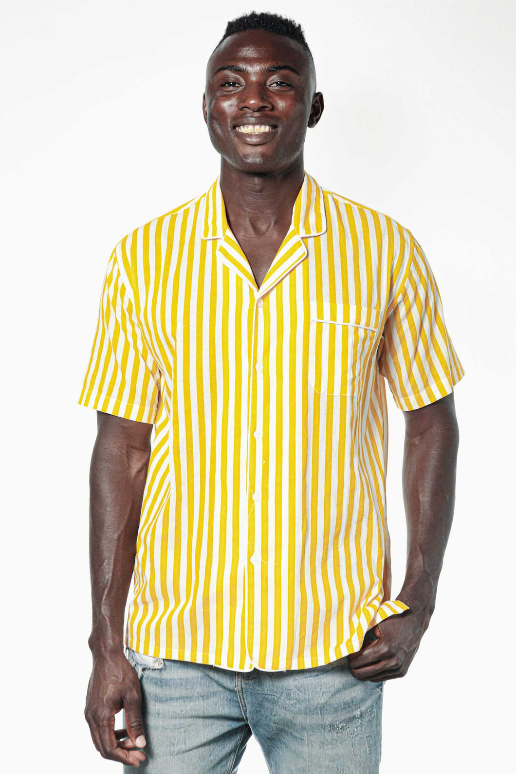 Camisa JACQUES Yellow Stripes
